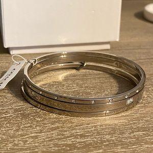 Coach silver bangle bracelets